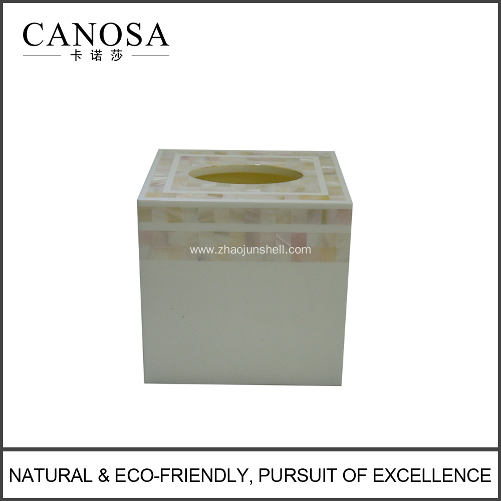 Chinese River Shell Tissue Box Cover for Star Hotels