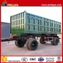 4 essieux transport de charbon basculement remorque complète avec barre d'attelage