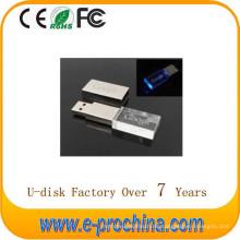 Großhandelskristall-Blitz-Antrieb der heißen Verkaufs-Metall USB-Blitz-Disketten-LED für freie Probe