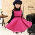 Europäische Pinafore Kinder Kleidung 2017 Neujahr Feier Party Winter Baumwolle & Nylon ärmelloses Kleid Xmas Guangzhou Großhändler