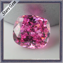 Rose Pink Rectangle Shape Cushion Cut Cubic Zirconia