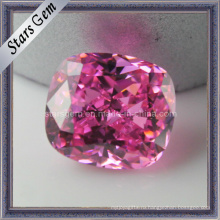 Розовый Розовый Прямоугольник Форма Подушка Cut кубического циркония