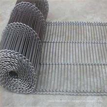 Cinta transportadora de malla de alambre de acero de escalera resistente al calor
