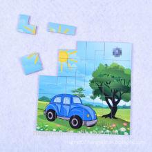 2015 Hot Promotional Magnetic Fashion Wood Puzzle Fridge Magnets