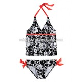 Girls nylon/spandex floral AOP swimsuit