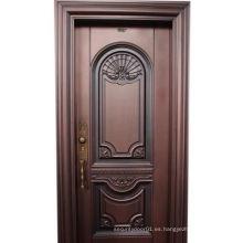 Puerta de acero de seguridad de diseño especial de cobre