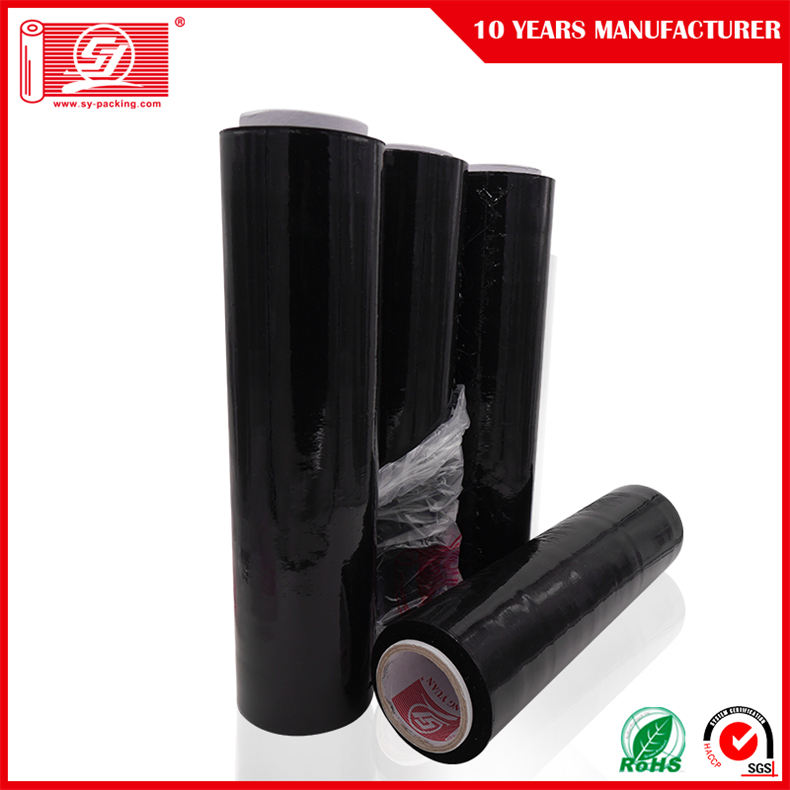 LLDPE Black Stretch Film Rollpallettfilm