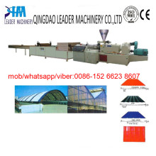 PVC Corrugated Roofing Sheet (tiles) Making Machine Plant