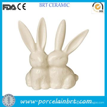 Керамические животных Кролик палец кольцо держатель