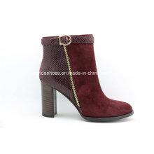 Späteste Comfort Fashion High Heels Lady Leder Stiefeletten