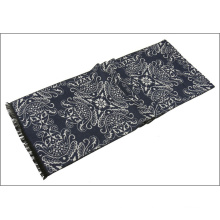 Men′s Womens Unisex Reversible Cashmere Like Winter Warm Printing Thick Knitted Woven Scarf (SP805)