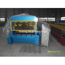 galvanizado baja de bobina de acero cubierta lamina máquina espiral del precio/pre-painted hoja decking del piso que hace la máquina