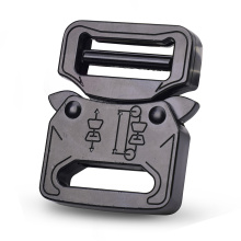 25mm Heavy Duty 18KN Steel Black Electrophoresis Tactical Cobra Belt Buckle For Military