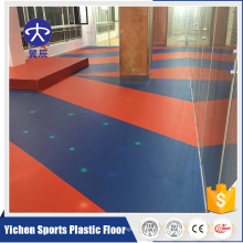 Green and Environmental plastic floor gym sporting flooring