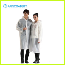 White Long Sleeve Unisex PE Raincoat