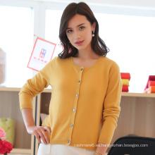 Suéter de punto de cachemira de punto de mujer personalizada