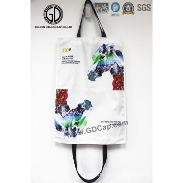 La bolsa de asas grande de las compras de la moda de la impresión del jinete de HK de alta calidad 2016