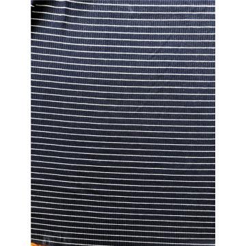 Tissu de tricot à côtes 4by2 teint en fil de rayonne et spandex