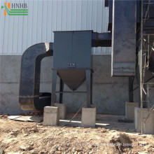 Ceramic multi cyclone dust collector for dryer