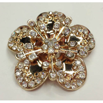 Women Gold Camellia Flower Shoe Buckle Fashion Ornaments