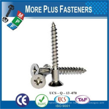 Made in Taiwan DIN 7997 Stainless Steel Countersunk Wood Screw