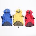 New Dog Raincoat Dog Hooded Double Fluorescent Raincoat Waterproof Pet Raincoat