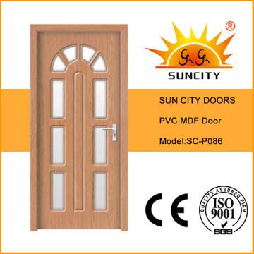 Beautiul Design Glass Insert PVC MDF Door (SC-P086)