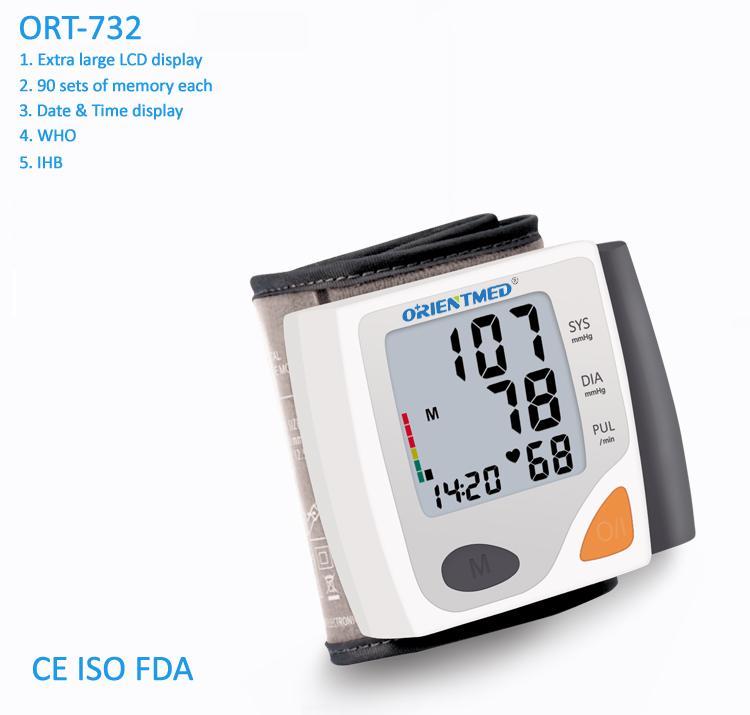 Ort732 Wrist Blood Pressure Monitor