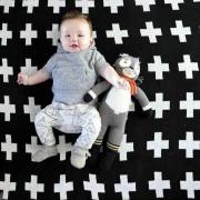 Manta de bebé tricô crochê