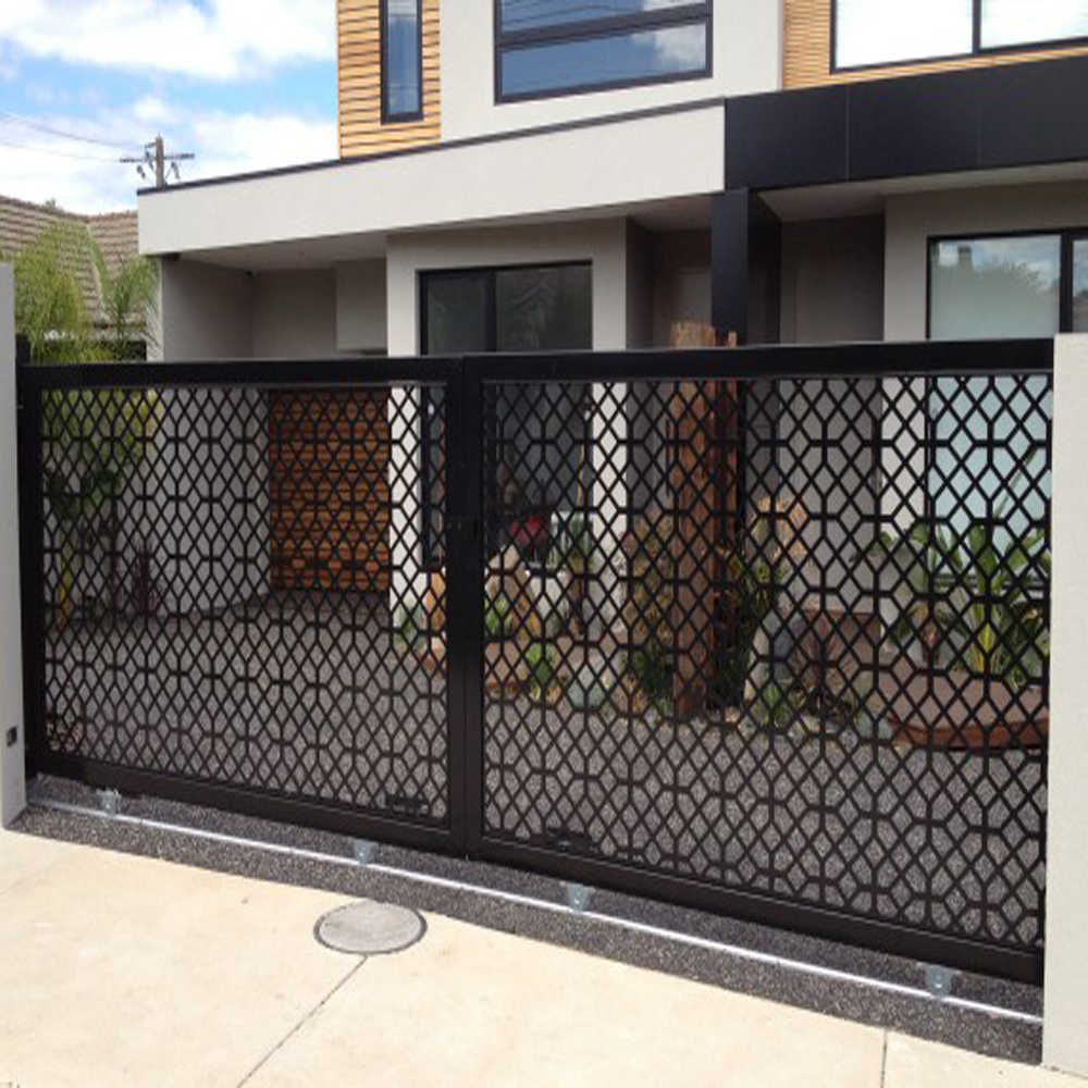Laser Cut Aluminum Fence Gate