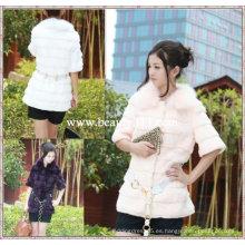 Fah024 OEM venta al por mayor de piel de prendas de vestir de pieles de ropa de conejo de piel de visón pieles ropa chaqueta de piel