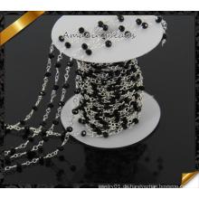 Großhandelsketten-Glas wulstige Kette silbrige Kette für Armband-Halskette (JD012)