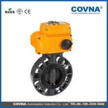 Electric actuator PVC butterfly valve /cheap price/well sales