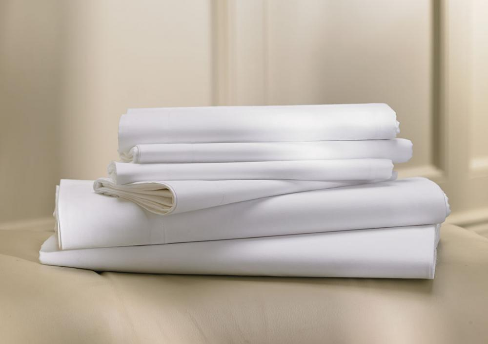 white bedding fabric for hotel
