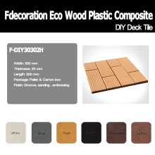 Composto plástico de madeira de bloqueio da telha da plataforma
