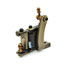 Pure Handmade CNC Cut Brass Tattoo Machine Guns