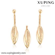 64026-beliebter Modeschmuck Dubai 18 Karat Gold Schmucksets