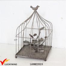 Rustikaler dekorativer Metall Birdcage Teelicht Kerzenständer