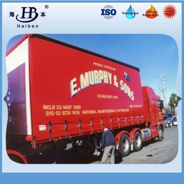 china waterproof vinyl tarpaulin container side curtain dump truck