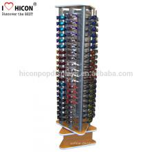 Eyewear Optical Frame Showroom Boden Einzelhandel Display Stand, Holz und Metall Sonnenbrille Display Spinner