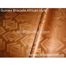 Золотой цвет жаккарда полиэфира новая Африканская ткань базен riche Гвинея парчи высокое качество одежды текстиля 10 ярдов/мешок завод