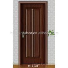 Moderna puerta de madera con MDF y melamina acabado, precio barato para la venta