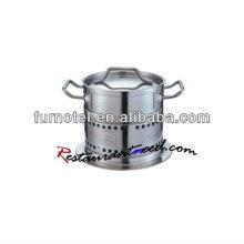 S370 Dia 140mm / Dia160mm olla de acero inoxidable con calentador