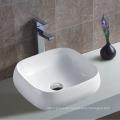 Cuarto de baño superior montado único agujero grifo de cerámica borde delgado cuenca