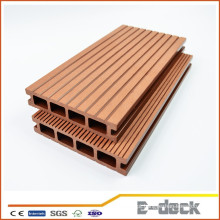 Ambiental freindly anti framing superfície de lixar WPC oco decking piso laminado