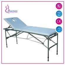 Atacado mesa de massagem de massagem de couro portátil