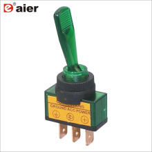 ASW-13D 12MM 20A SPST 3P ON-OFF 12V Interruptor de palanca de automóvil iluminado