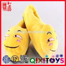 custom poop shoes cute stuffed plush emoji slippers/ Hot selling emoji plush shoes for sale / Emoji Pillow Shoes