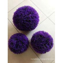 Bola de grama artificial em casa e fora decoração cor roxa