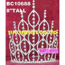 Tiara elegante lujosa de la boda del rhinestone de la rhinestone de la frente